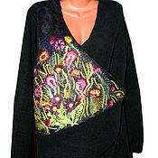 Одежда ручной работы. Ярмарка Мастеров - ручная работа Жакет комбинированный шитый с валяной вставкой. Handmade.