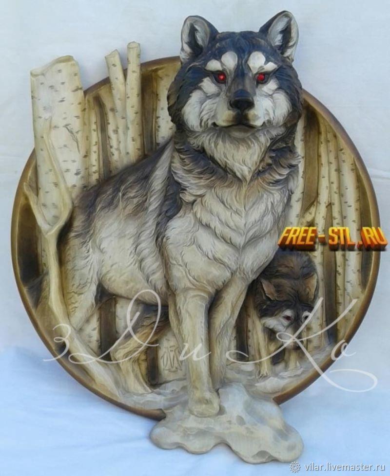 Медальон с волком, Декор для декупажа и росписи, Балашиха,  Фото №1