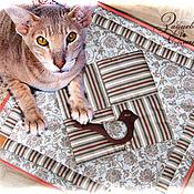 Для домашних животных, ручной работы. Ярмарка Мастеров - ручная работа плед, лежанка для кошки (собачки) Птичка в окошке. Handmade.