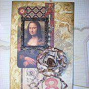 """Открытки ручной работы. Ярмарка Мастеров - ручная работа Открытка """"Мона Лиза"""". Handmade."""