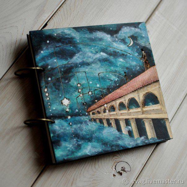 "Notepad 20.5x20.5sm ""On bridge"", Sketchbooks, Moscow,  Фото №1"