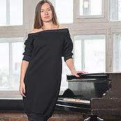 Одежда ручной работы. Ярмарка Мастеров - ручная работа Уютное теплое платье 2U Black. Handmade.