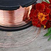 Материалы для творчества handmade. Livemaster - original item 0,3 mm; copper wire. Handmade.
