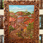 Картины и панно handmade. Livemaster - original item A collage of painted wooden panels. Handmade.