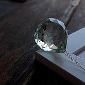 Украшения ручной работы. Ярмарка Мастеров - ручная работа Крупный кристалл на серебряной цепочке. Handmade.