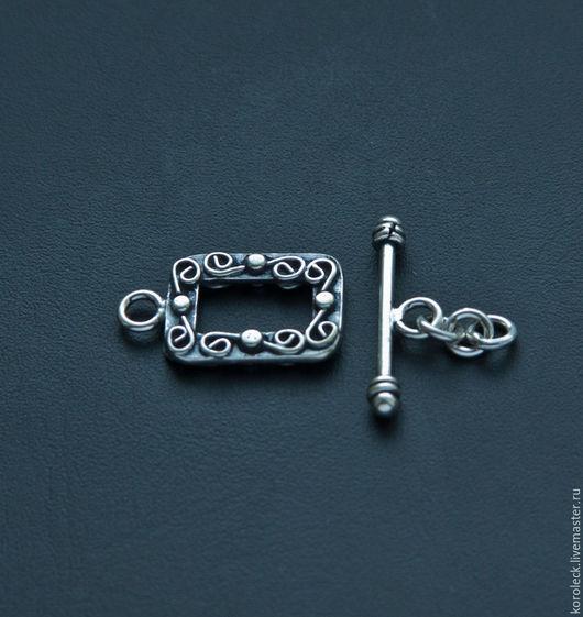 Для украшений ручной работы. Ярмарка Мастеров - ручная работа. Купить Замок-тогл серебряный Барокко ручной работы. Handmade.