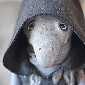 Куклы и игрушки ручной работы. Ярмарка Мастеров - ручная работа Grey... Серый...(около 33см) птица будуарная  кукла  ооак. Handmade.
