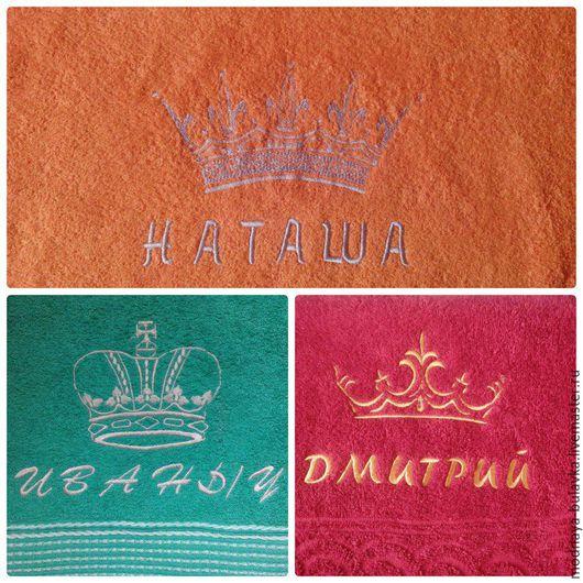 Ванная комната ручной работы. Ярмарка Мастеров - ручная работа. Купить Махровое полотенце с вышивкой. Handmade. Комбинированный, махровые изделия