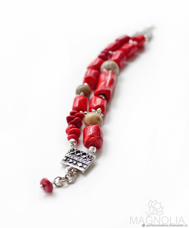 Bracelets handmade. Livemaster - handmade. Buy Bracelet with coral 'Mystery reef'.Bracelet, jewelry with stones, author's jewelry