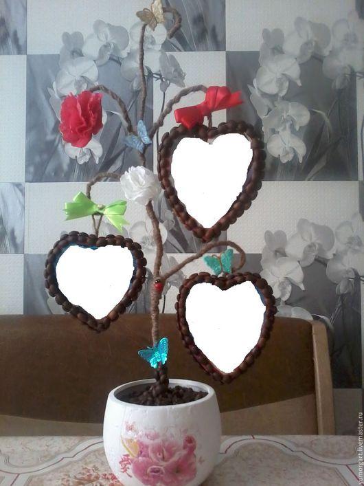 """Подарки для влюбленных ручной работы. Ярмарка Мастеров - ручная работа. Купить Топиарий """"Дерево семьи"""". Handmade. Комбинированный, топиарий из кофе"""
