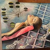 """Картины и панно ручной работы. Ярмарка Мастеров - ручная работа картина """"Freedom of thought"""". Handmade."""
