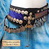 Одежда ручной работы. Ярмарка Мастеров - ручная работа Tribal Indigo belt. Handmade.