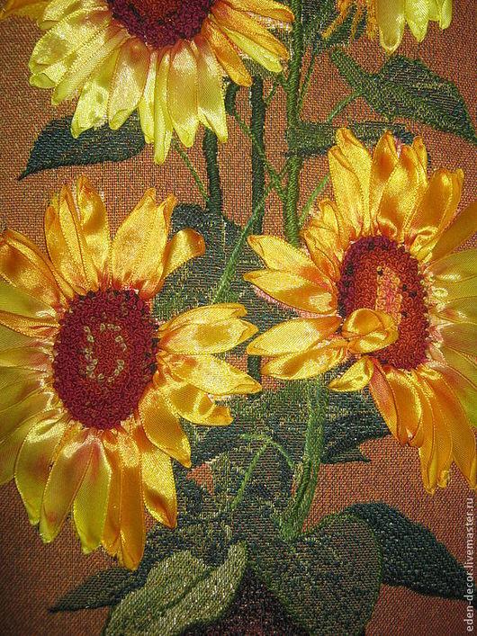 Картины цветов ручной работы. Ярмарка Мастеров - ручная работа. Купить Подсолнухи в вазе. Handmade. Желтый, картина в подарок