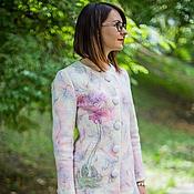 """Одежда ручной работы. Ярмарка Мастеров - ручная работа Авторское пальто """"Орхидеи"""". Handmade."""