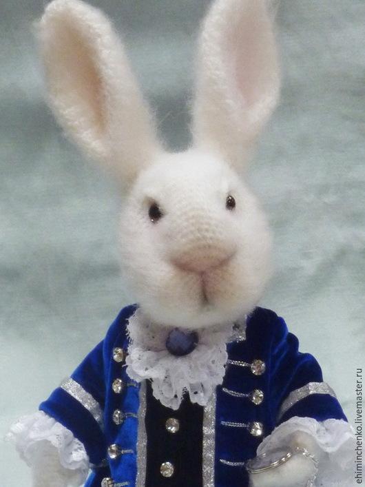 Игрушки животные, ручной работы. Ярмарка Мастеров - ручная работа. Купить Вязаная интерьерная кукла Белый Кролик. Handmade. Белый