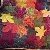Для дома и интерьера ручной работы. Ярмарка Мастеров - ручная работа Лоскутный плед Октябрь. Handmade.