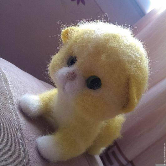 Игрушки животные, ручной работы. Ярмарка Мастеров - ручная работа. Купить Котенок Солнышко. Handmade. Желтый, коты и кошки