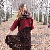 Одежда handmade. Livemaster - original item Winter warm wool knitted crochet skirt