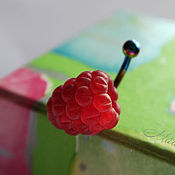 Украшения ручной работы. Ярмарка Мастеров - ручная работа Ах...пирсинг с малиной, серьга в пупок. Handmade.