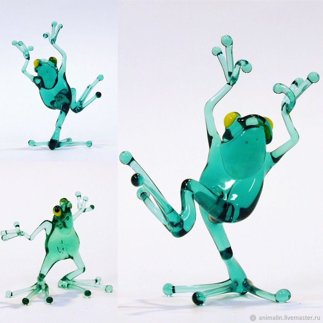 Interior Artistic figurine dancing young frogs, Figurines, Moscow,  Фото №1