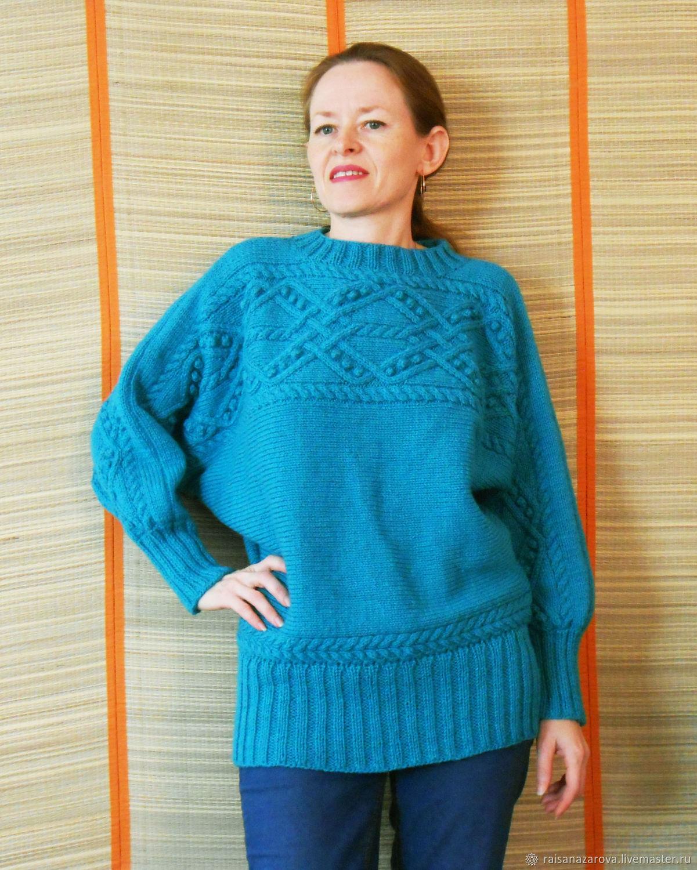 Пуловер вязаный спицами полушерстяной из комплекта Водопад, Пуловеры, Чаны, Фото №1