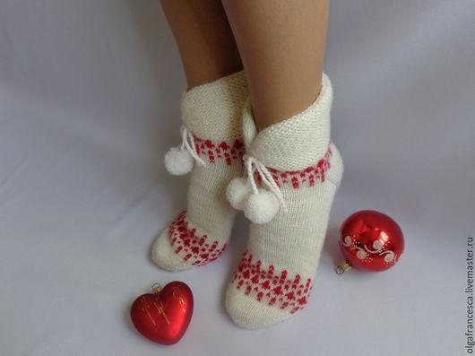 Носки, гольфы, чулки ручной работы. Носки вязаные. Носки вязаные «Чародейка-2». Подарок ручной работы» из коллекции «Подарки». Olgafrancesca . Ярмарка мастеров.