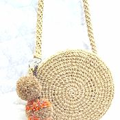 Сумки и аксессуары handmade. Livemaster - original item A round bag made of jute. Handmade.