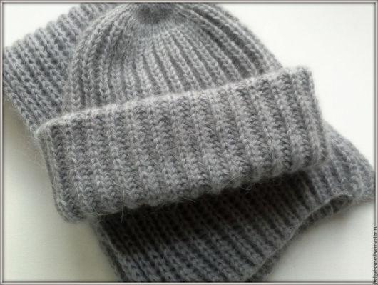 Комплекты аксессуаров ручной работы. Ярмарка Мастеров - ручная работа. Купить Комплект шапка и шарф вязаные женские. Handmade. Однотонный