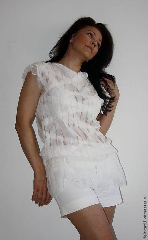 """Платья ручной работы. Ярмарка Мастеров - ручная работа. Купить Туника  """" Таинство"""". Handmade. Белый, платье валяное"""