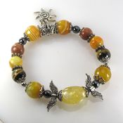 Украшения handmade. Livemaster - original item B31 Bracelet with carnelian and citrine