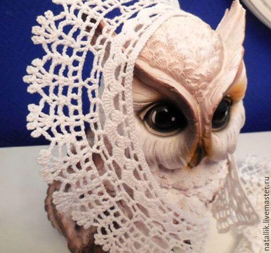 """Воротнички ручной работы. Ярмарка Мастеров - ручная работа. Купить Воротничок """" Кошачьи лапки"""". Handmade. Белый, воротник крючком"""