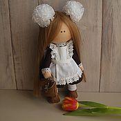 Куклы Тильда ручной работы. Ярмарка Мастеров - ручная работа Текстильная кукла Школьница. Handmade.