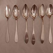 Винтаж handmade. Livemaster - original item Set of European silver spoons. 19th century.Silver 800pr. Weight 341 gr. Handmade.