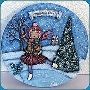 """Картины и панно ручной работы. Ярмарка Мастеров - ручная работа Барельеф """"Счастливого нового года!"""". Handmade."""