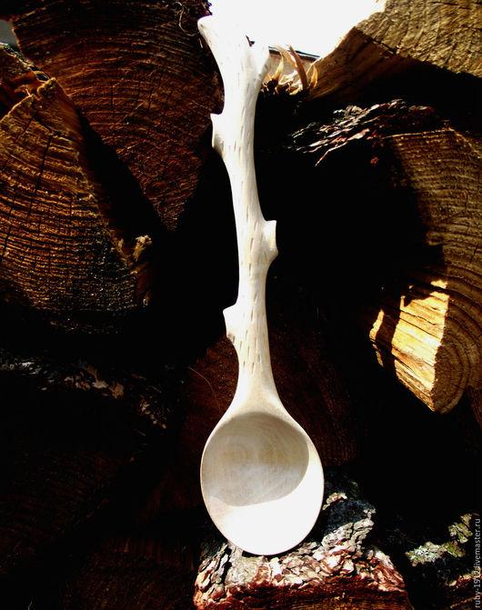 Кухня ручной работы. Ярмарка Мастеров - ручная работа. Купить Деревянная ложка из дерева(веточка).. Handmade. Ложка ручной работы, белый