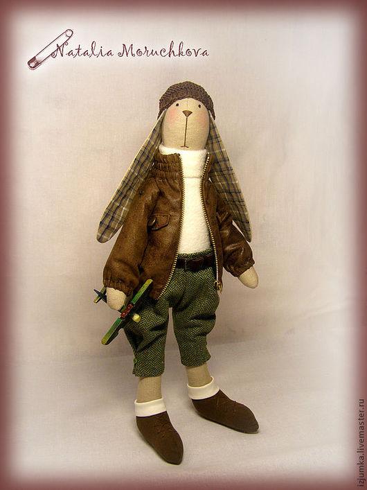 Куклы Тильды ручной работы. Ярмарка Мастеров - ручная работа. Купить Тильда заяц Джонни. Handmade. Коричневый, заяц текстильный