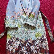 Кашемировая пальтовая ткань с принтом, Прерии
