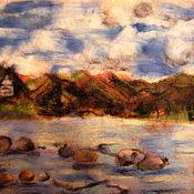 """Картины и панно ручной работы. Ярмарка Мастеров - ручная работа Картина """"Священное озеро"""". Handmade."""