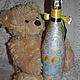 """Подарочное оформление бутылок ручной работы. Подарочная бутылкка """"С рождением малыша!"""". Некрасова Екатерина (katxarina). Ярмарка Мастеров."""