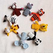 Кукольный театр ручной работы. Ярмарка Мастеров - ручная работа Пальчиковые куклы животные набор 10 кукол. Handmade.
