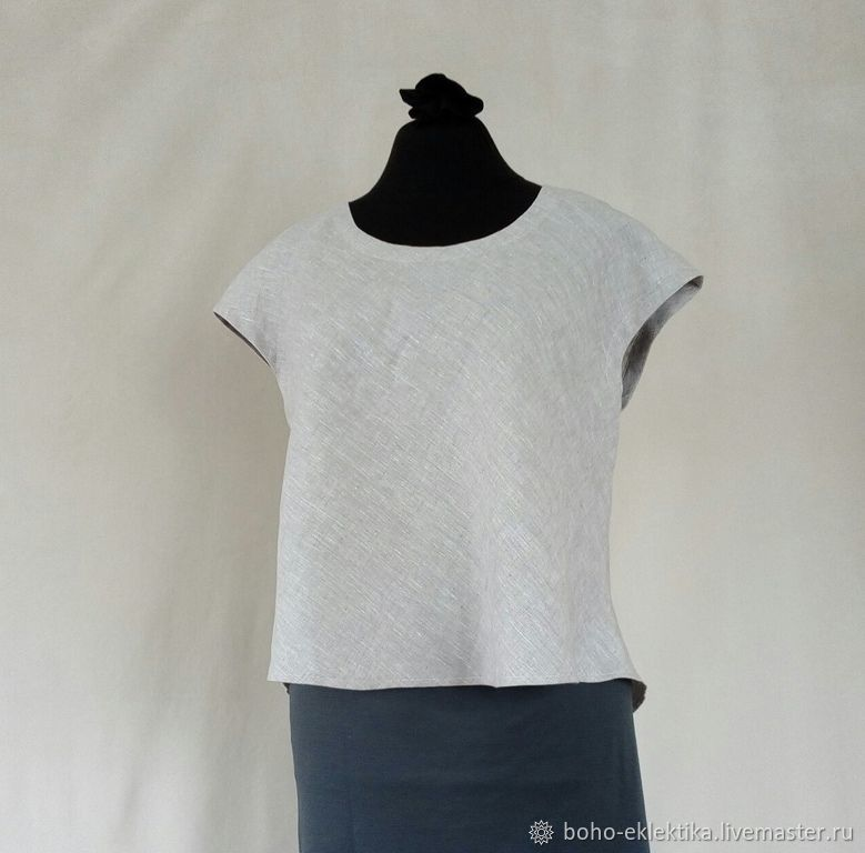 Blouses handmade. Livemaster - handmade. Buy A simple linen blouse, natural color.Boho style, linen clothes