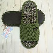 Обувь ручной работы handmade. Livemaster - original item Men`s Slippers with a rubber sole 43p. Handmade.