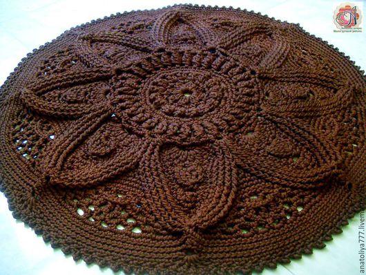 Текстиль, ковры ручной работы. Ярмарка Мастеров - ручная работа. Купить Ковер ручной работы из шнура Шоколадный Цветок. Handmade.