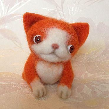 Куклы и игрушки ручной работы. Ярмарка Мастеров - ручная работа Рыжий котенок. Handmade.