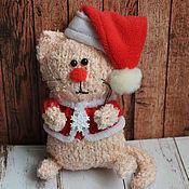 Куклы и игрушки ручной работы. Ярмарка Мастеров - ручная работа Новогодние котейки. Handmade.