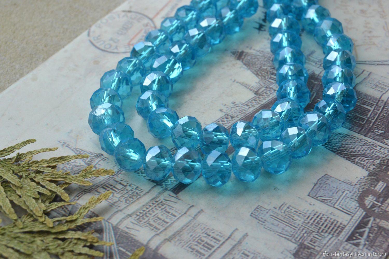Roundels, 8 mm aquamarine, Beads1, Stavropol,  Фото №1