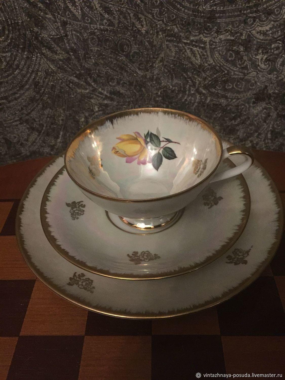 Tea trio HWL Bavaria, Vintage mugs, Kaliningrad,  Фото №1