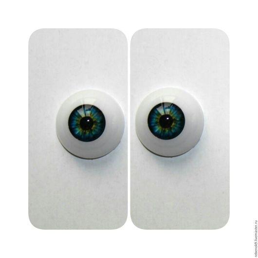 Куклы и игрушки ручной работы. Ярмарка Мастеров - ручная работа. Купить Глаза акриловые полусфера сине-карие 20-22 мм. Handmade.