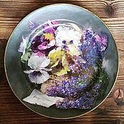 """Тарелки ручной работы. Ярмарка Мастеров - ручная работа Тарелка """"Виола"""". Handmade."""