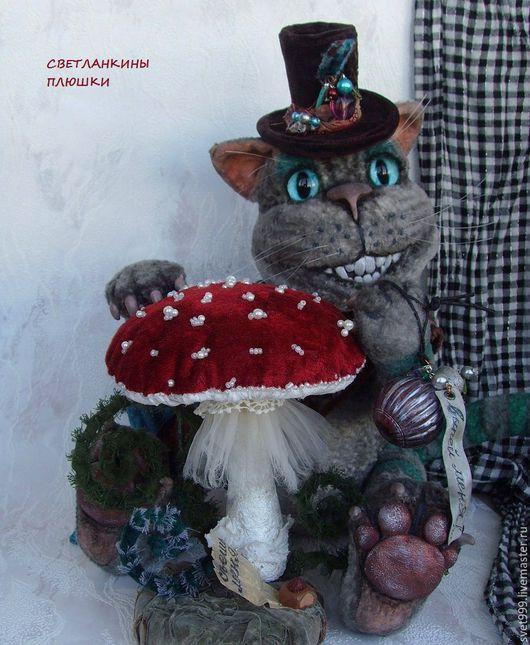 """Мишки Тедди ручной работы. Ярмарка Мастеров - ручная работа. Купить плюшевый котей """"Чешир"""". Handmade. Комбинированный, сказочный персонаж"""